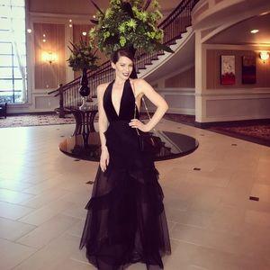 BCBGMAXAZRIA black tulle gown dress , gorgeous 😃